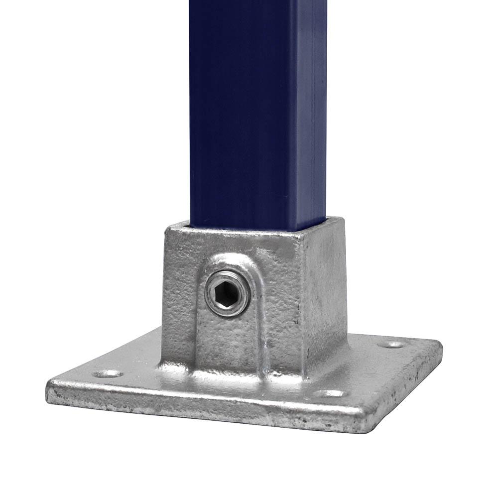 Eckige Fussplatte für quadratische Rohre - 40 mm