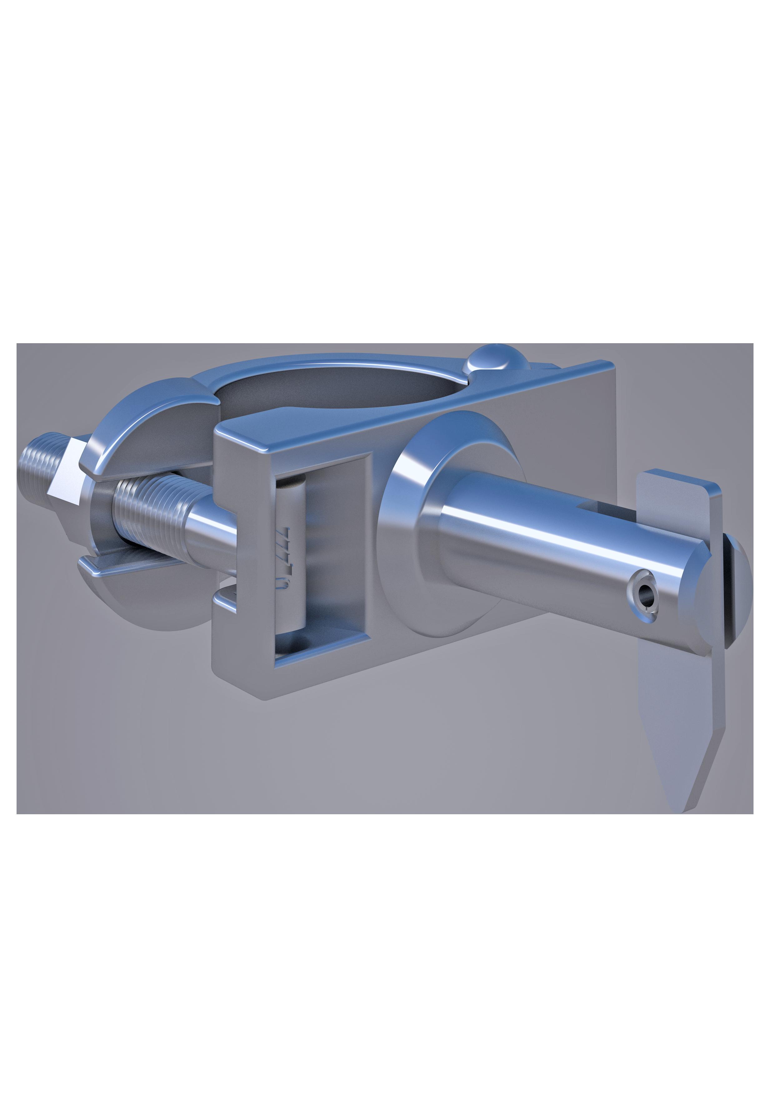 Kippstiftkupplung, 48.3 mm, SW 22mm