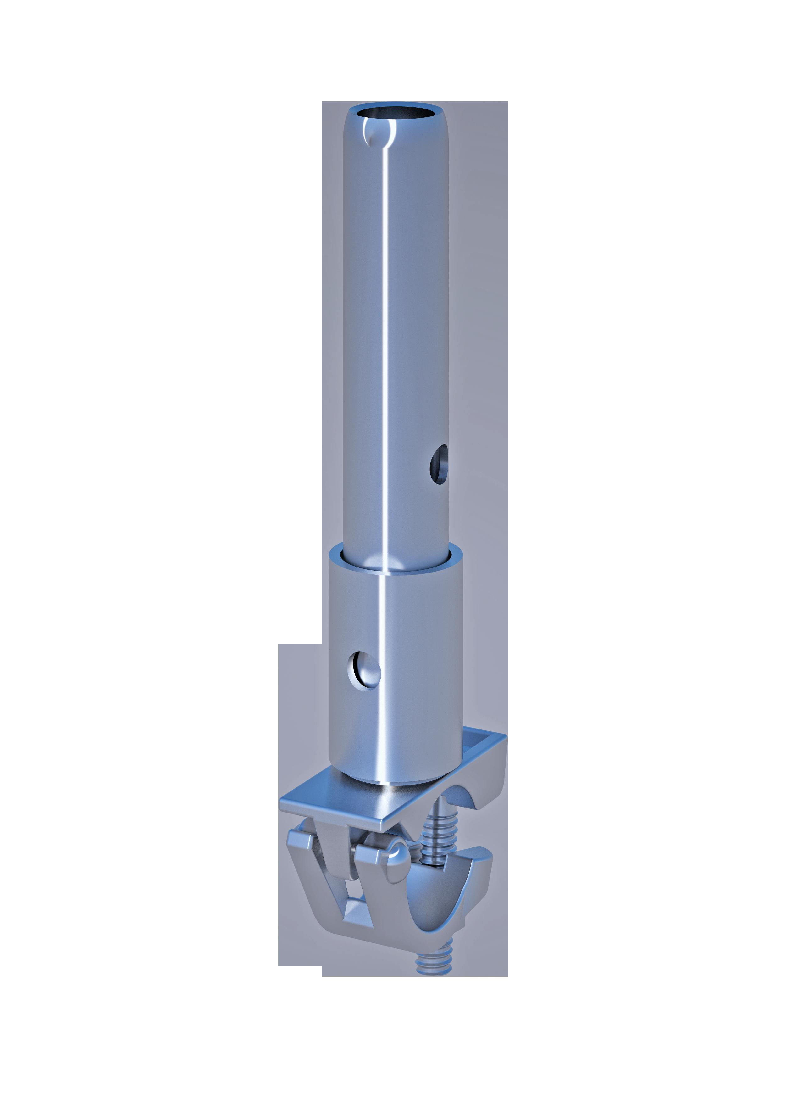 Rohrverbinder mit Halbkupplung, 48.3 mm, SW 22mm