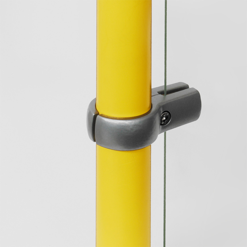 Trennwandhalter mit Nocke Aluminium 40mm
