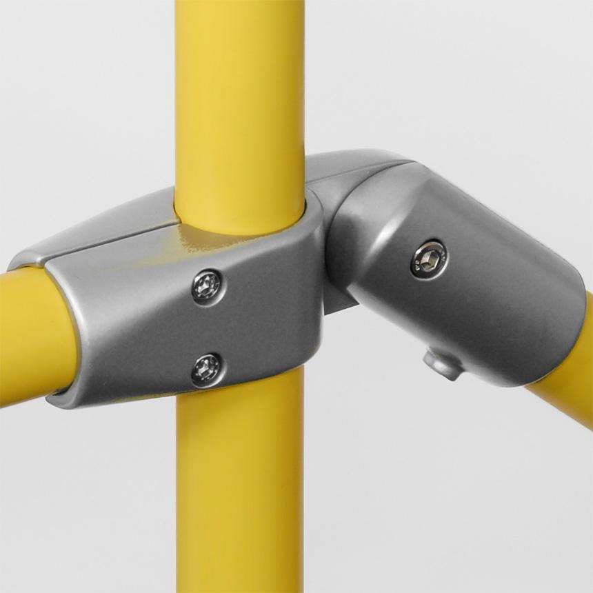 Kreuz-Verbinder Aluminium 40mm, flexibel