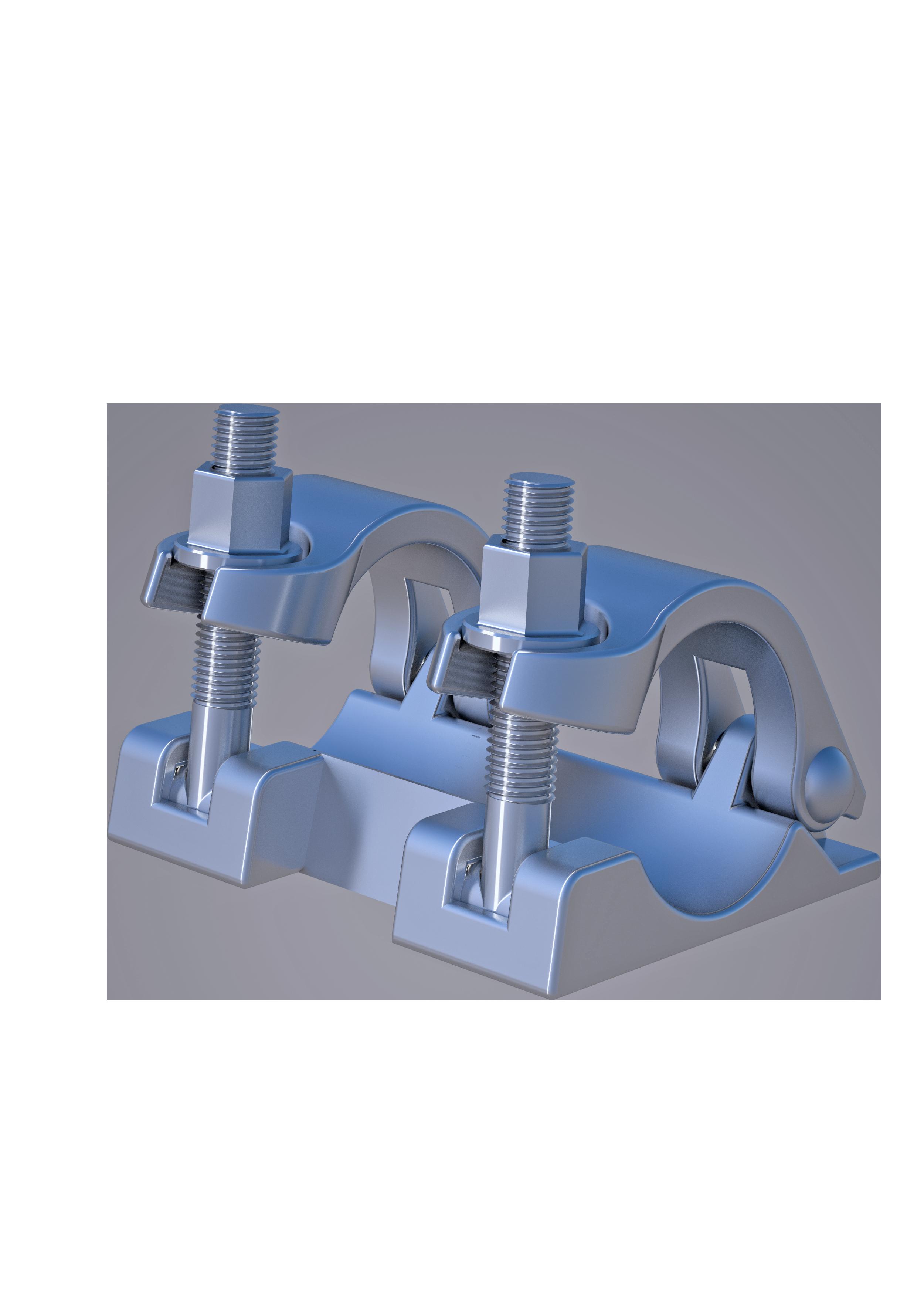 Zugkupplung - metrisch,  48.3 mm, SW 22mm