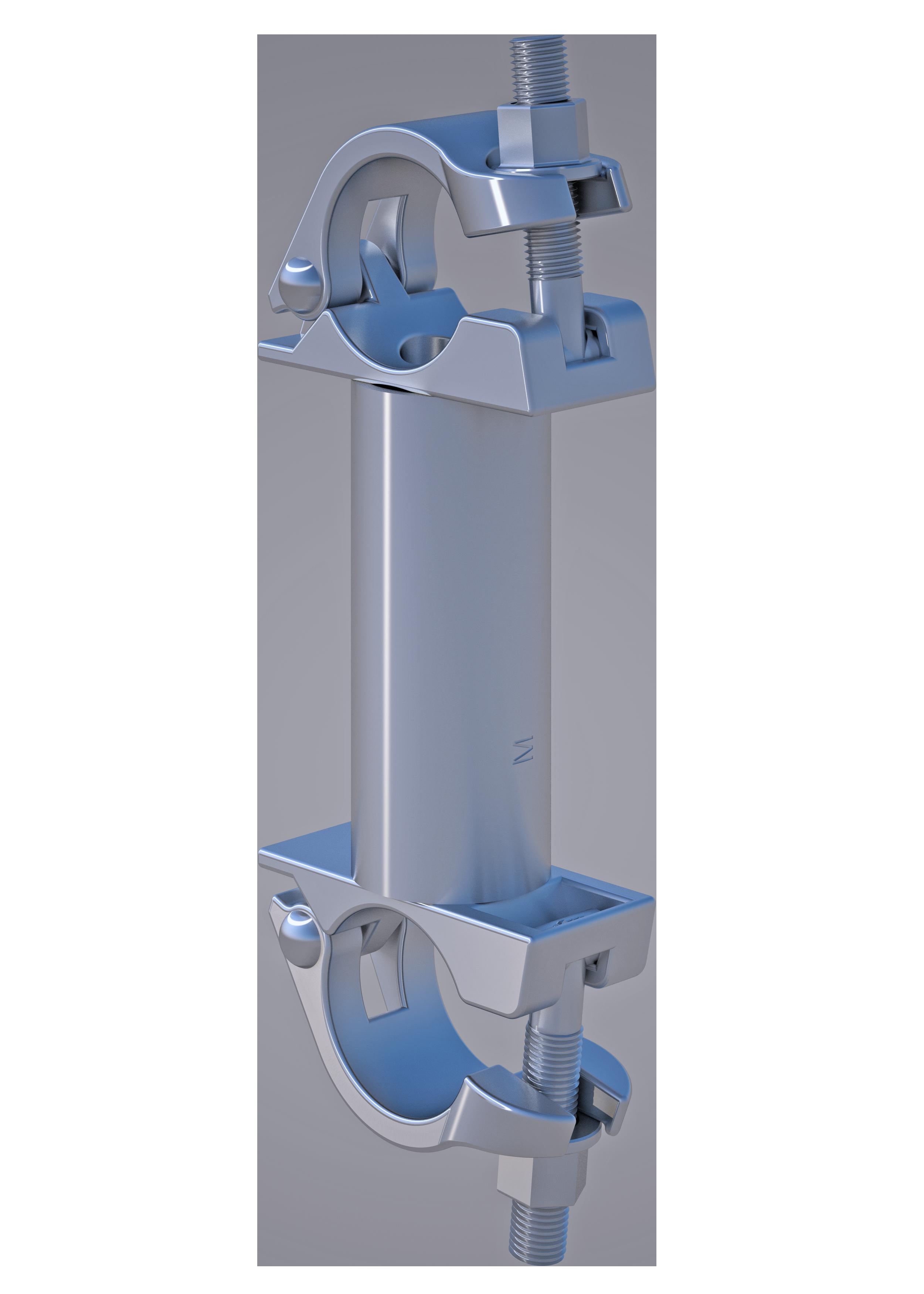 Parallelkupplung , 48.3 mm, SW 22mm