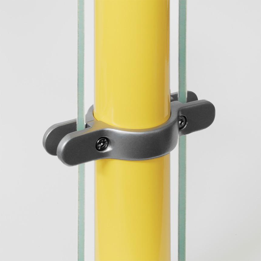 Trennwandhalter Aluminium , doppelt 60mm