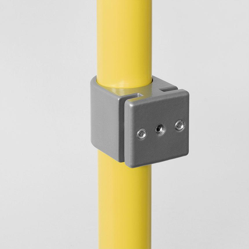 Halter für Fussleiste Aluminium 40mm