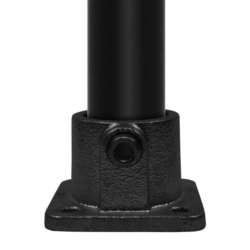 """Fussplatte, eckig, schwarz 26,9 mm (¾"""")"""