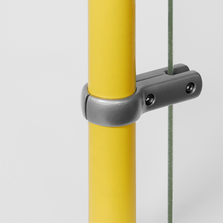 Trennwandhalter Aluminium  40mm