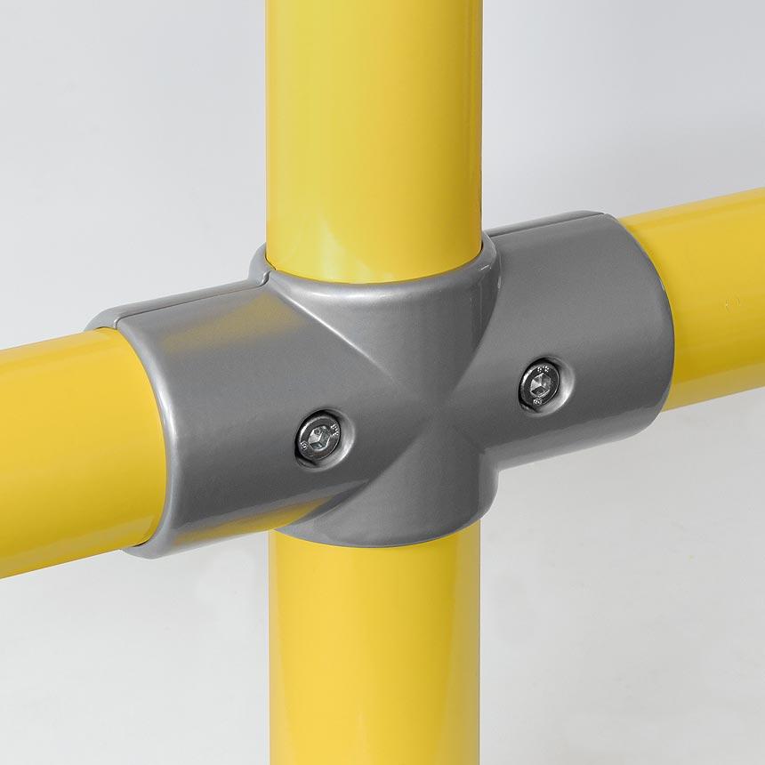 Kreuz-Verbinder Aluminium 60mm, zweiteilig