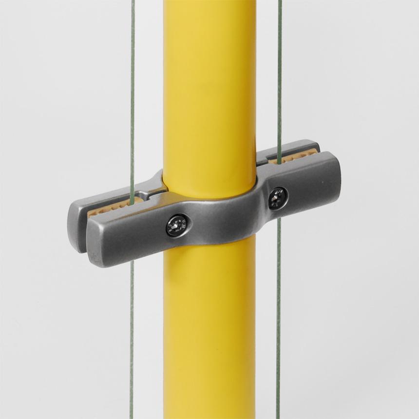 Trennwandhalter Aluminium , doppelt mit Nocke 40mm