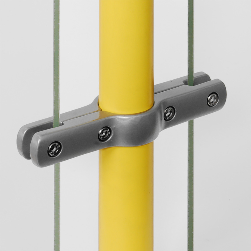 Trennwandhalter Aluminium , doppelt 40mm