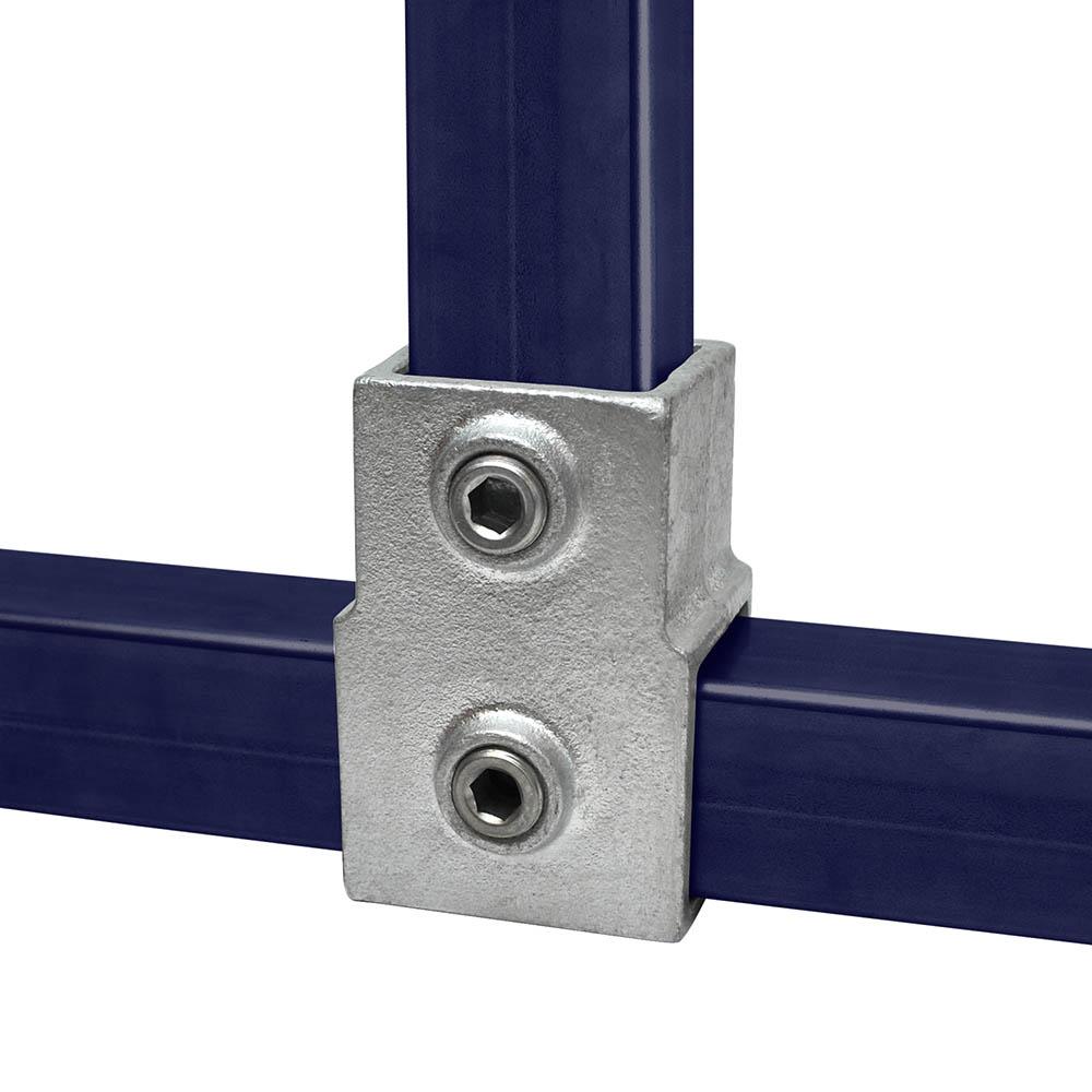 T-Stück, kurz für quadratische Rohre - 40 mm