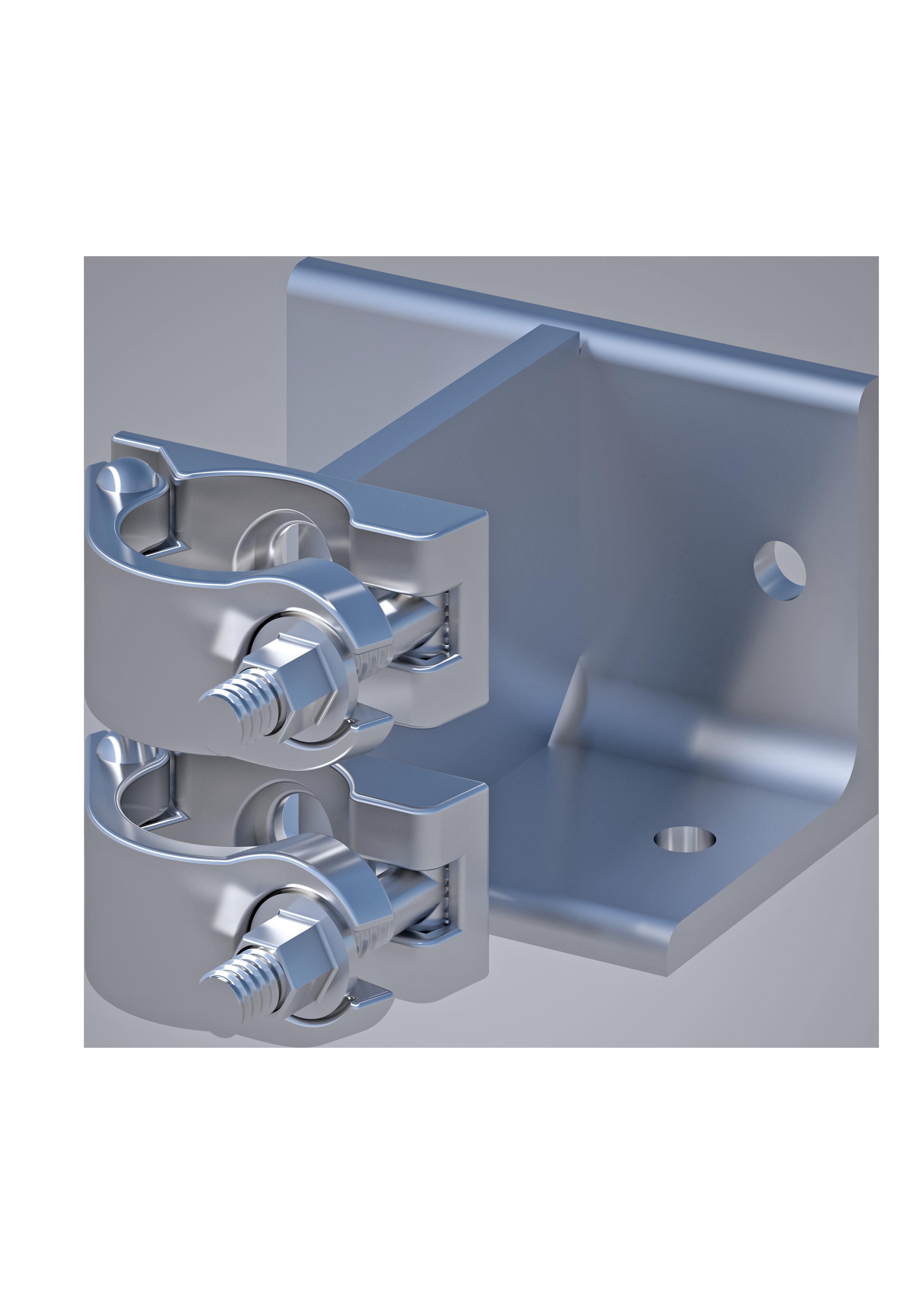 Wand-Deckenkupplung  48.3 mm, SW 22mm