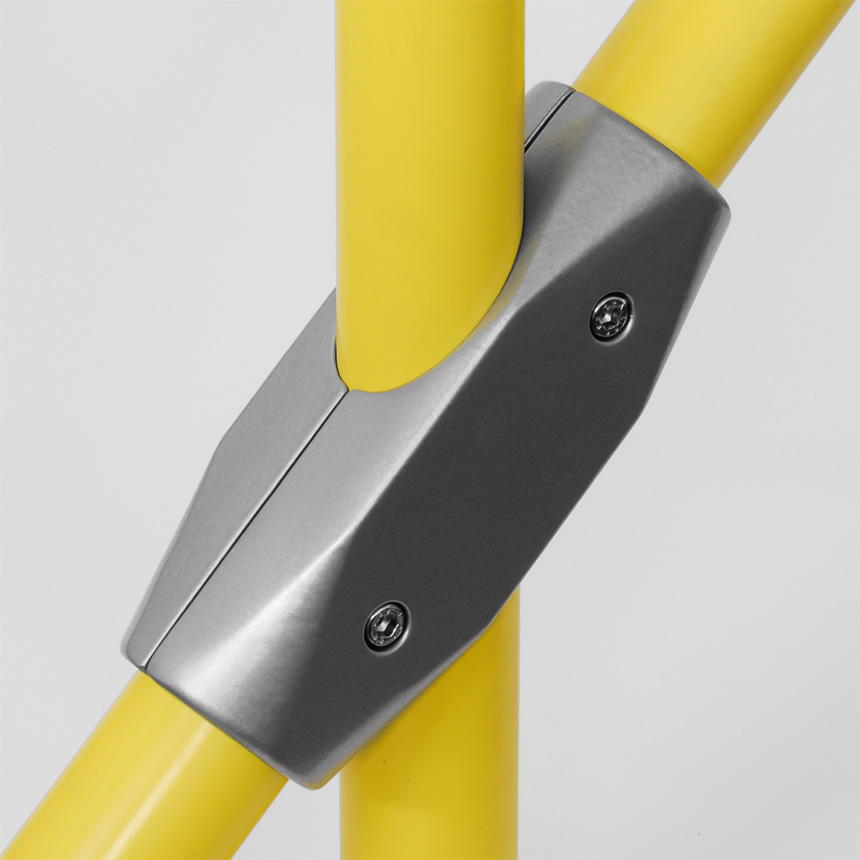 Kreuz-Verbinder Aluminium 30mm Wa 60°/Wb 30°