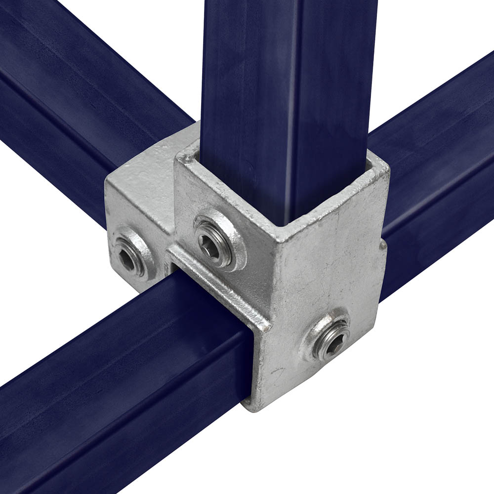 Eckstück durchlaufender Ständer für quadratische Rohre - 40 mm