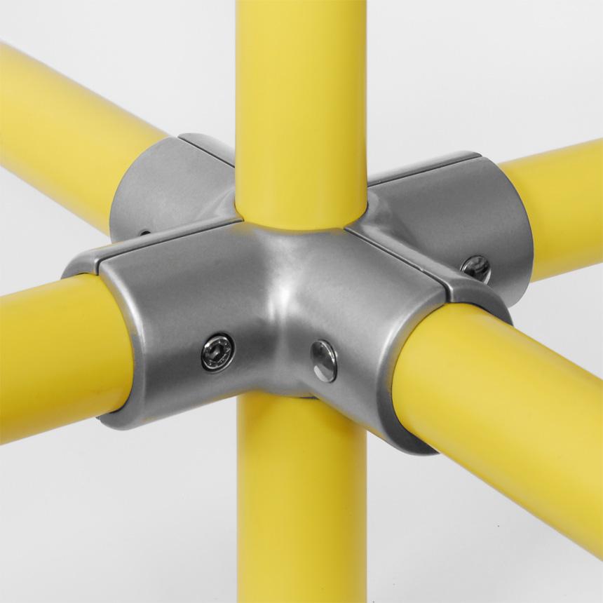 Kreuz-Verbinder Aluminium 30mm
