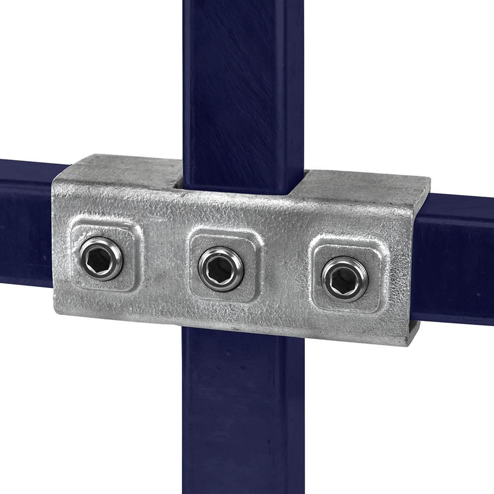 Kreuzstück, durchgehend  für quadratische Rohre - 40 mm