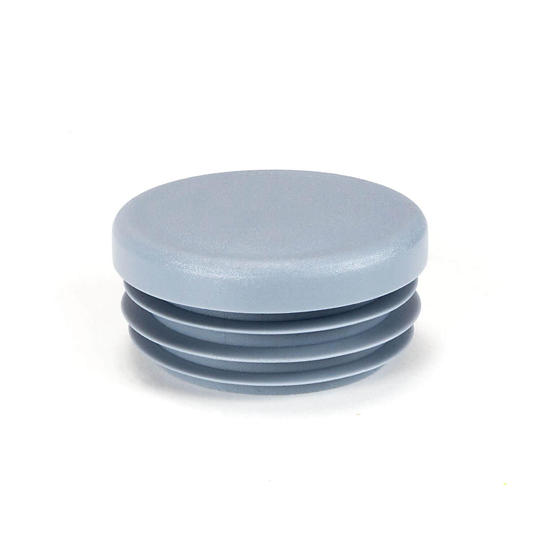 Stopfen zu Rohren 35mm, grau