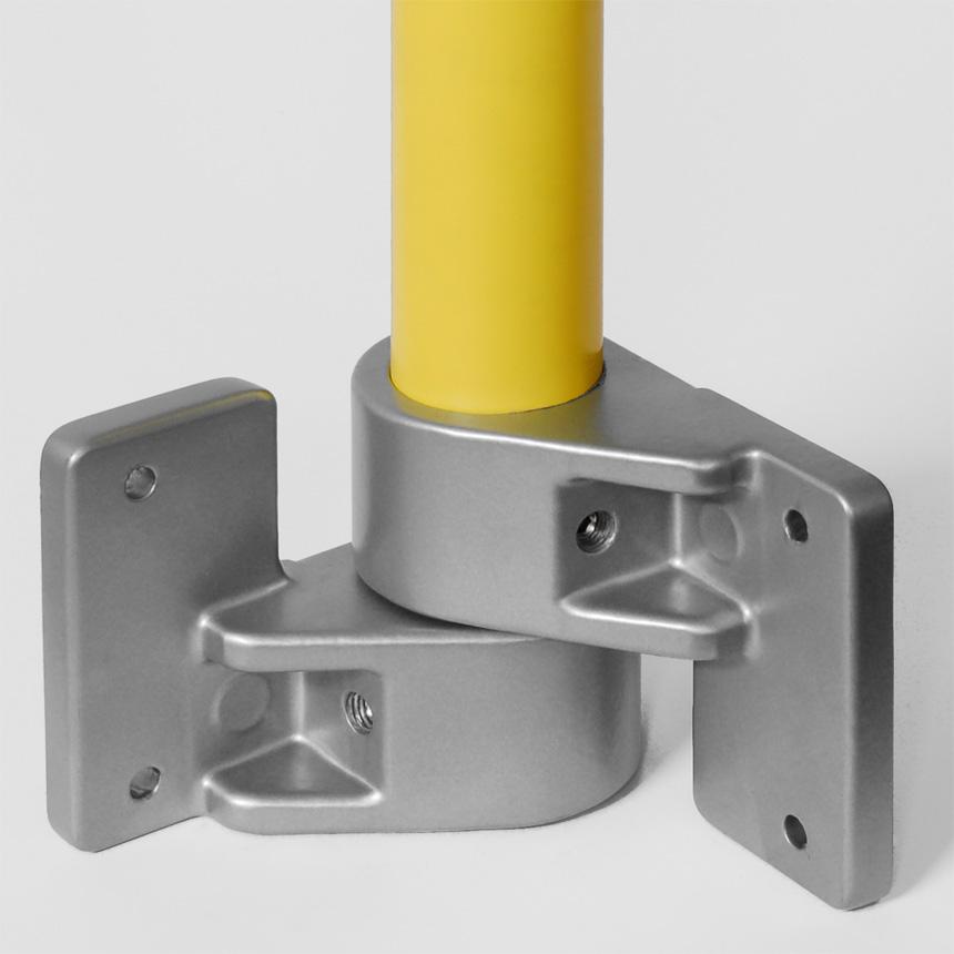 Eck-Rohrlager Aluminium , flexibel 40mm