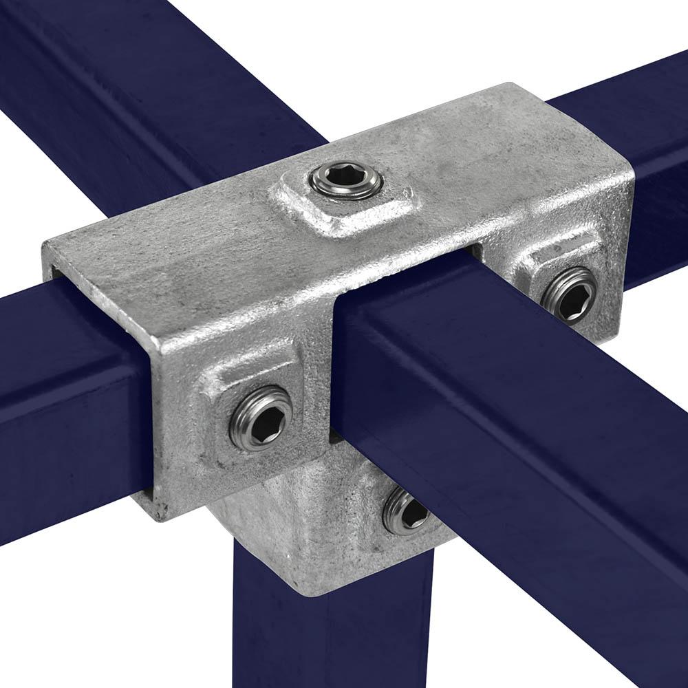 T-Stück für Stützrohr für quadratische Rohre - 40 mm