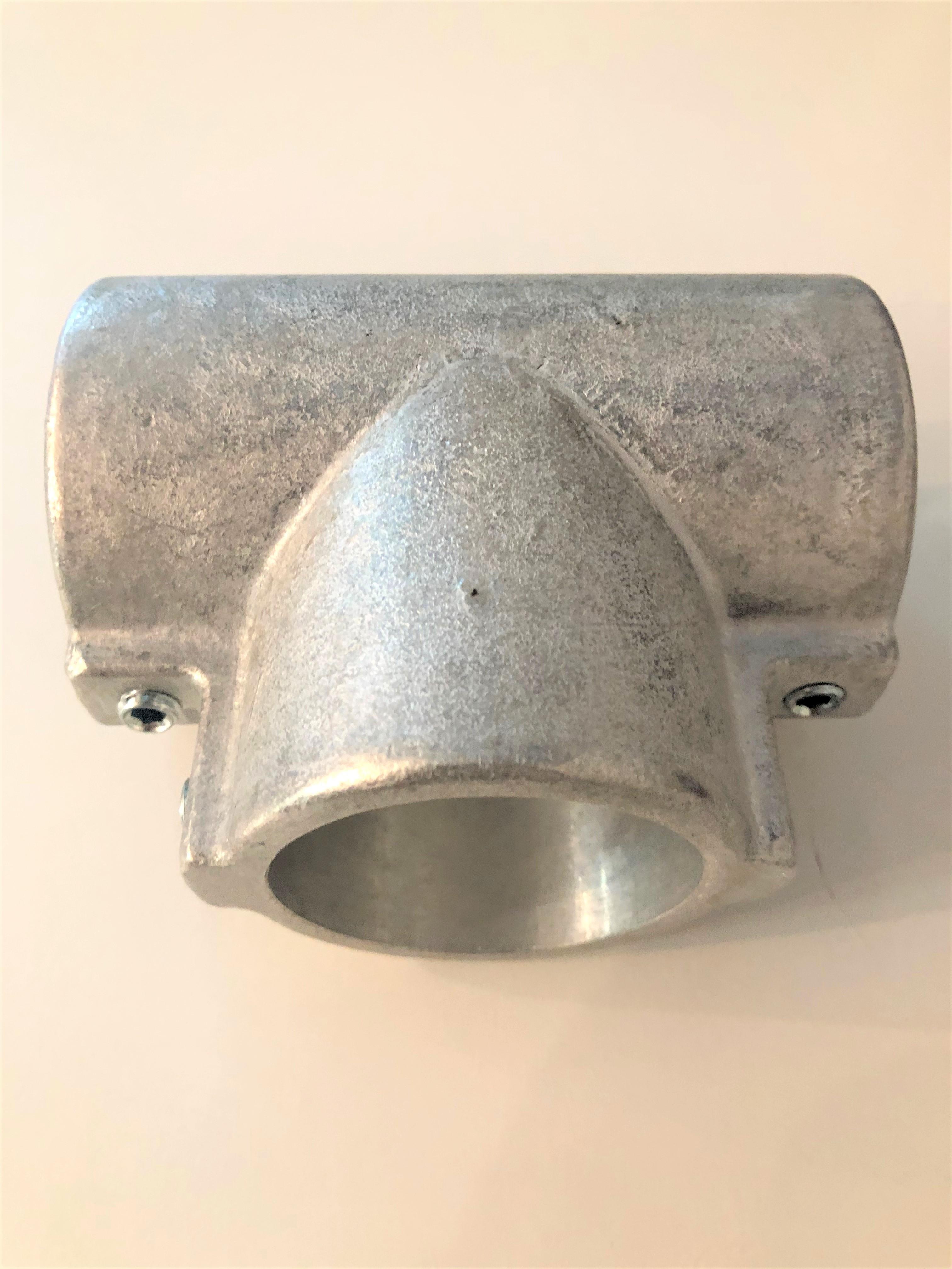 T-Verbinder 90° - lang, 60mm, Alu roh unbehandelt